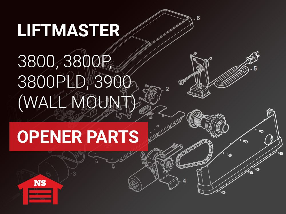 Liftmaster Model 3800 3800p 3800pld 3900 Wall Mount Opener