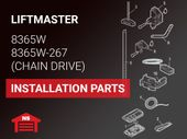 LiftMaster Model 8365W Installation Parts