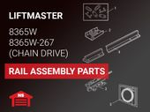 LiftMaster Model 8365W Rail Assembly Parts