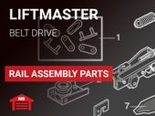 Liftmaster Rail Assembly Belt Drive Parts
