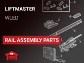LiftMaster Model WLED and WLED-267 Rail Assembly Parts