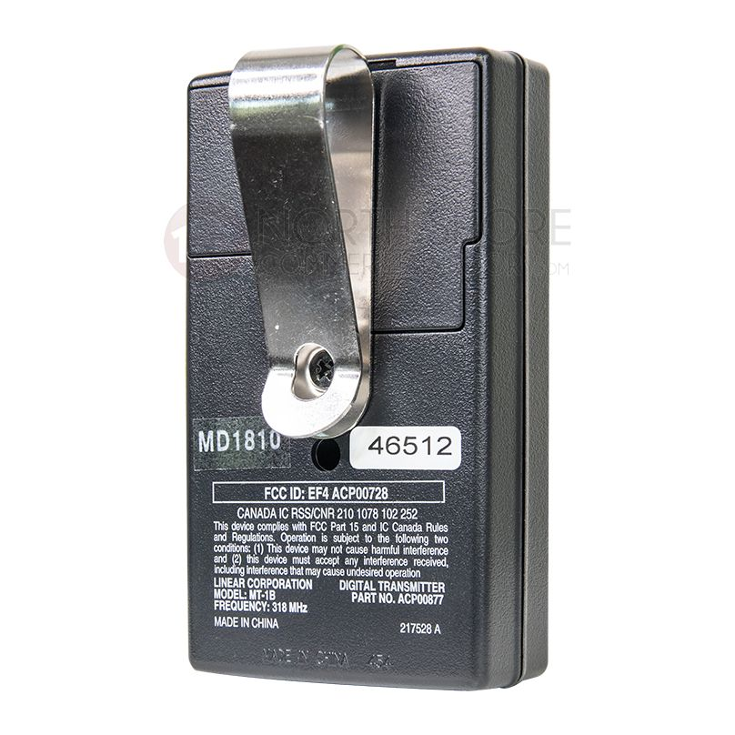 EF4 Linear ACP00872 1 Button Transmitter Remote Fob