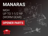 Manaras MGH 1/2, 3/4, 1, 1-1/2 HP Parts