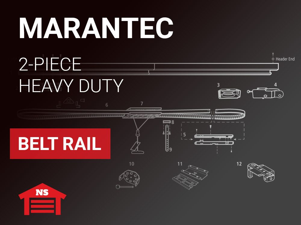 Marantec Heavy Duty 1 2mm 18 Gauge 2 Piece Belt Rail