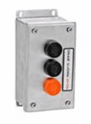 MMTC 3B4X-SS NEMA 4X Exterior Three Button Surface Mount Control Station in Stainless Steel Enclosure