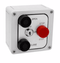 MMTC 3B4XL NEMA 4X Exterior Three Button with Lockout Surface Mount Control Station