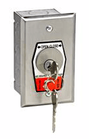 MMTC HBFS Nema 1 Interior Open-Close Key Switch With Stop Button In Single Gang Back Box Flush Mount
