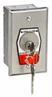 MMTC HBFSX Exterior Open-Close Key Switch With Stop Button In Single Gang Back Box Flush Mount