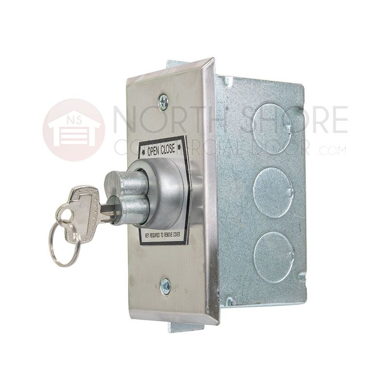 Roller Shutter Key Switch Protection Steel Box Security Keyswitch Open Back