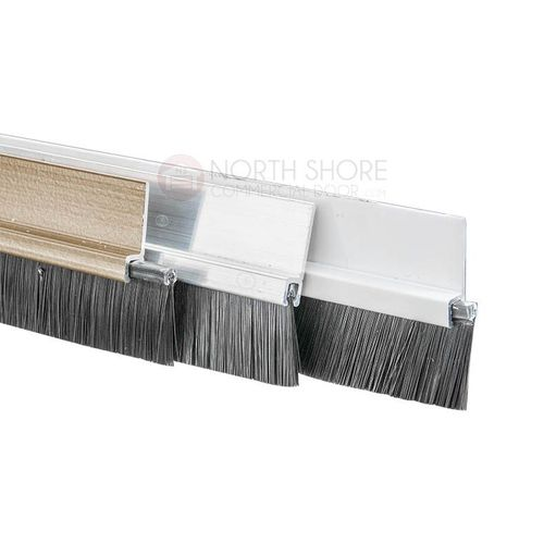 Brush Sweep Door Sweep with Black 1 1//2 Brush 3 FT, Brown
