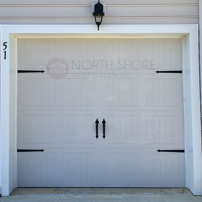 Stamped Steel Yorktown Pull Handle Decorative Garage Door