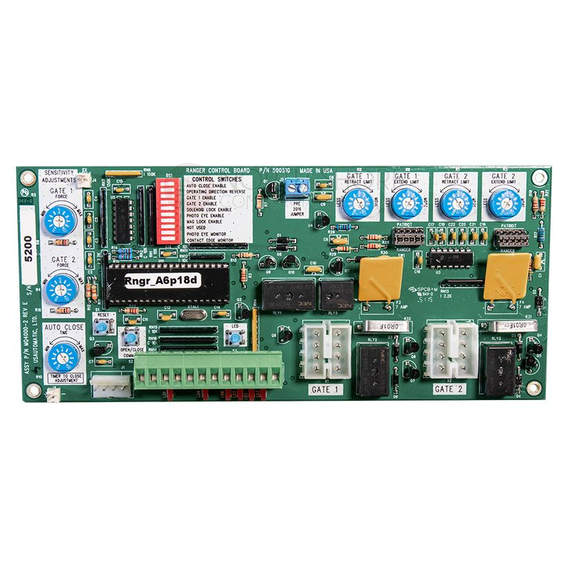 usautomatic control board for ranger 500510 22 usautomatic gate parts, remotes & more