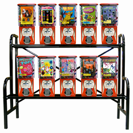 10 Pro Line Metal Gumball Candy  Rack