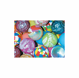 49mm Bright Mix 40 bouncy balls per bag