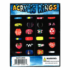 "Acrylic Rings 1"" Toy Capsules 250pcs"