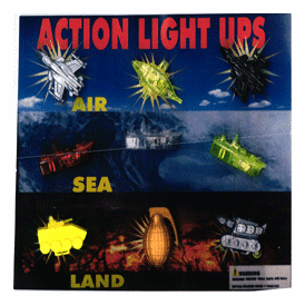 """Action Military Light Ups 2"""" Toy Capsules 250 pcs"""