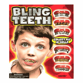 """All Bling Teeth 2"""" Toy Capsules 250 pcs"""