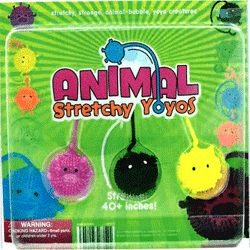 "Animal Stretchy Yo Yo Balls 2"" Toy Capsules 250 pcs"