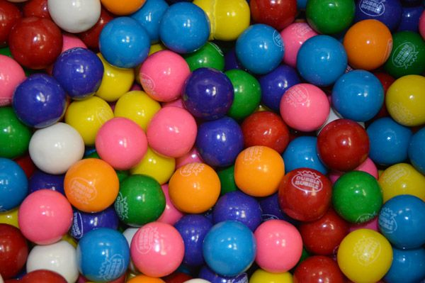 Assorted .62 inch Gumballs 3,650 Count