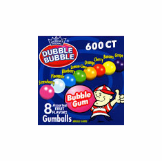 "Asst Colors 600 ct 1.25"" Gumballs"
