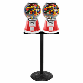 Big Bubble Double Candy Gumball Machine with Stand