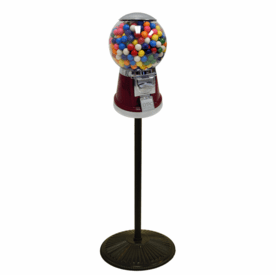 Big Bubble Single Gumball Machine with Retro Stand