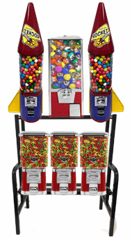 Big Pro Toy Double Rocket Gumball  Pro Line  Metal  Candy Combo Machine