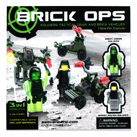 "Brick Ops Soldiers & Tactical Vehicles 2"" Toy Capsules 250 pcs"
