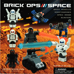"Brick Ops / Space 2"" Toy Capsules 250 pcs"