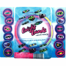 """Bright band Neon Rings 2"""" Toy Capsules 250 pcs"""