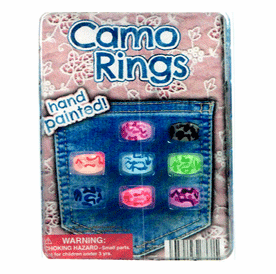 "Camo Hand Painted Rings 1"" Toy Capsules 250 pcs"