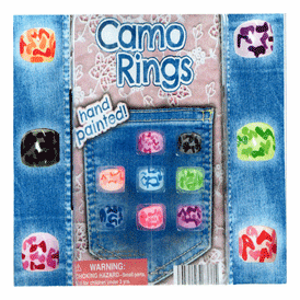 """Camo Hand Painted Rings 2"""" Toy Capsules 250 pcs"""