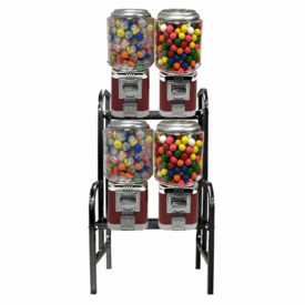 Candy Gumball  Machine -Classic 4 Unit /wStand