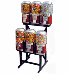 Candy Gumball Machine - Classic 6 Unit /w Stand
