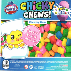 "Chicky Chews Chewing Gum In 2"" Capsules 250 pcs"