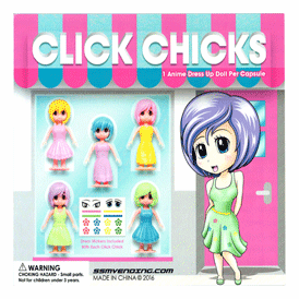 """Click Chick Dress Up Doll 2"""" Toy Capsules 250 pcs"""