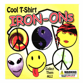 "Cool T-Shirt Iron-Ons 2"" Toy Capsules 250 pcs"