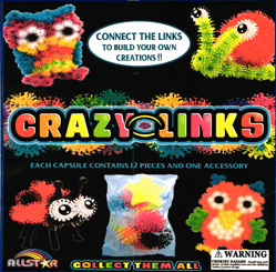 "Crazy Links Build Crazy Creatures 2"" Toy Capsules 250 pcs"