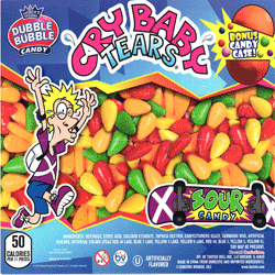 "Cry Baby Tears Candy In 2"" Capsules 250 pcs"