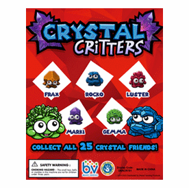 """Crystal Critters Round 1"""" Toy Capsules 250pcs"""