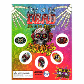 """Day of the Dead Rings Round 1"""" Toy Capsules 250pcs"""