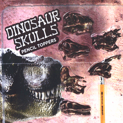 "Dinosaur Skulls  Pencil Toppers 2"" Toy Capsules 250 pcs"