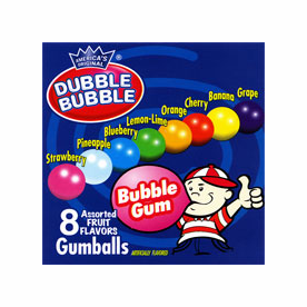 Doubble Bubble Assorted 3/4 inch Gumballs  1900ct