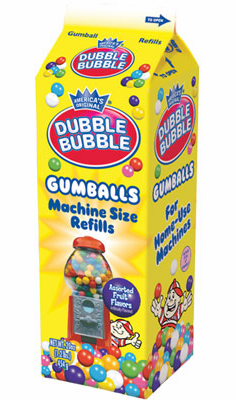 "Double Bubble 1/2"" Gumballs Refill Carton 20oz"