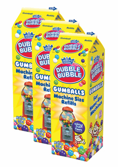 "Double Bubble 1/2"" Gumballs Refill Carton 20oz - 3 Pack"