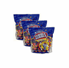 "Double Bubble Gumballs 1/2"" Refill Bag 53oz - 3Pack"