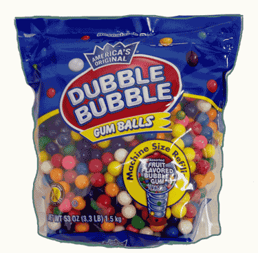 "Double Bubble Gumballs 1/2"" Refill Bag 53oz"