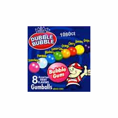 "Dubble Bubble Asst 7/8"" Gumballs 1080 count"