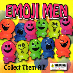 "Emoji Men Self Vend 2"" Toy Capsules 250 pcs"