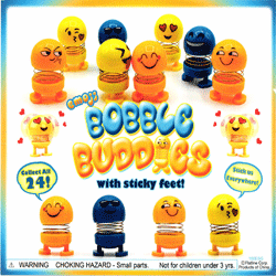 "Emoji Springy Bobble Buddies 2"" Toy Capsules 250 pcs"